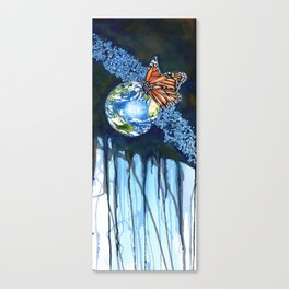 Earth and Butterfly Canvas Print