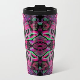 pink skulls Travel Mug