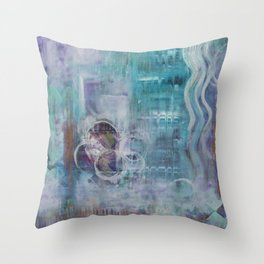 Living in the Mystery Throw Pillow