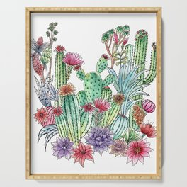 Cactus garden Serving Tray
