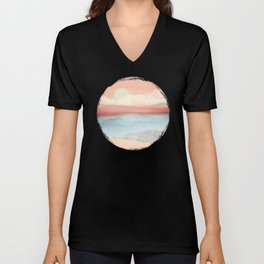 Mint Moon Beach Unisex V-Neck