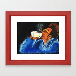 """HERE'S TO FEELIN' GOOD ALL THE TIME"" Framed Art Print"