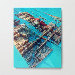 City of Cubes Metal Print