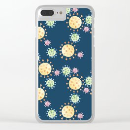 Watercolor Viruses Clear iPhone Case