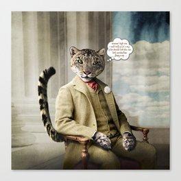 Sir Sebastian Snow Leopard Canvas Print