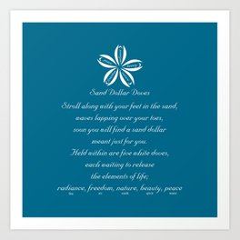 Sand Dollar Doves Poem and Talisman Art Print