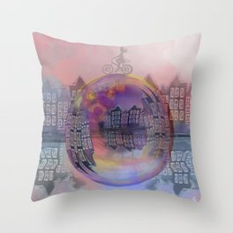 All bubbles are magical Throw Pillow