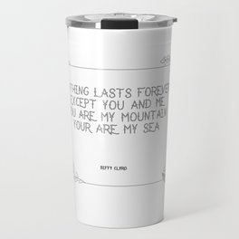 Mountains by biffy Clyro Travel Mug