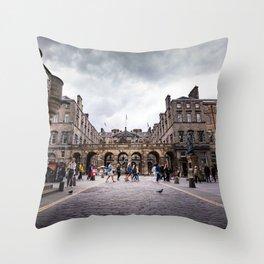Royal Mile in Edinburgh, Scotland Throw Pillow