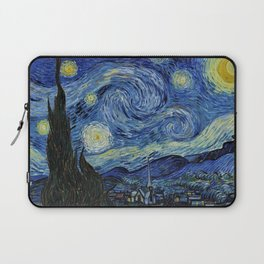 Classical Masterpiece 'Starry Night' by Vincent van Gogh Laptop Sleeve