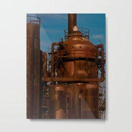 Industry Abandoned Metal Print