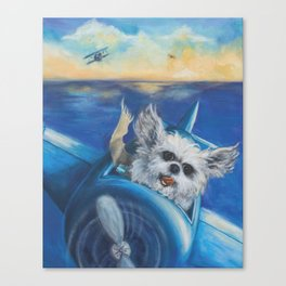 Cookie the Fighter Pilot Canvas Print