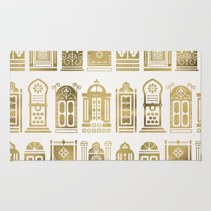 Moroccan Doors – Gold Palette Rug