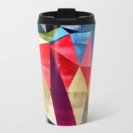 colorful pattern abstract shapes Travel Mug
