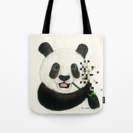 Panda with Pixels.  Tote Bag