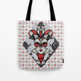 Queen of Harlequins Tote Bag