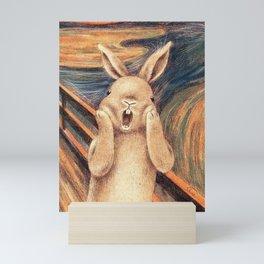 Screaming Bunny Mini Art Print