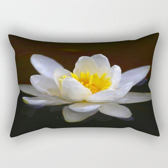 White Water Lily  Rectangular Pillow