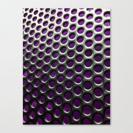 Stainless Steel Circles with Purple Canvas Print