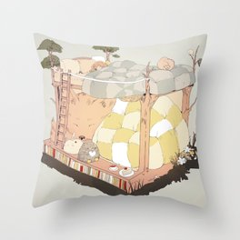 roommates. Throw Pillow