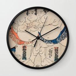Utagawa Kuniyoshi - Battle Wall Clock