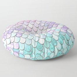 Mermaid Pastel Pink Purple Aqua Teal Floor Pillow