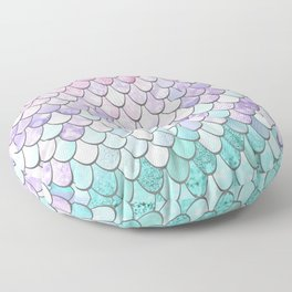 Mermaid Pastel Pink Purple Aqua Teal Floor Pillow