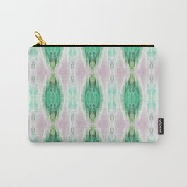 Pattern design in emerald green and pale muted pink Carry-All Pouch