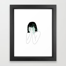 A little bit dissapointed in humanity. Framed Art Print
