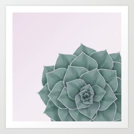 Big Green Echeveria Design Art Print