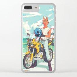 Sky Bike Clear iPhone Case