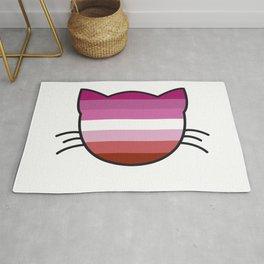 Lipstick Lesbian Flag Colors Cat Rug