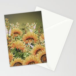 Vintage Garden 5 (Sunflower Field) Stationery Cards