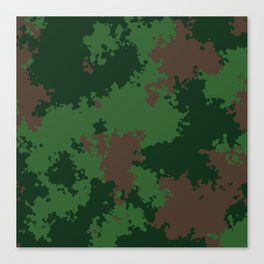 Camouflage forest Canvas Print