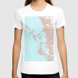 Vintage Map of Sarasota Florida (1973) T-shirt