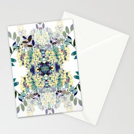 Seamless pattern of acacia Stationery Cards