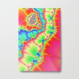Astract art psychedelic art fractal art pink ligth green Metal Print