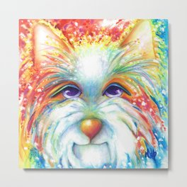 West Highland White Terrier Westie Dog Winston abstract dog art Metal Print