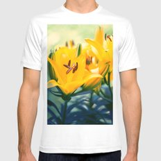 Summer Lilies II Mens Fitted Tee MEDIUM White
