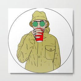 """Mac Miller R.I.P """"Juice"""" Metal Print"""