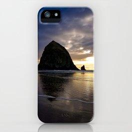 Sunset on Haystack II iPhone Case