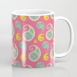Pastel Pink and teal Boho Paisley pattern Coffee Mug
