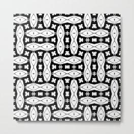 black weave Metal Print