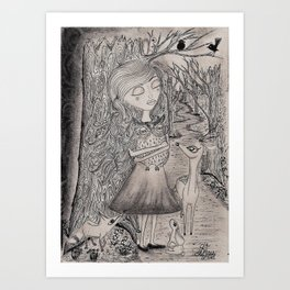 The Vanishing Forest Art Print
