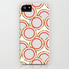 Petite Glitter circles collection iPhone Case