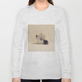 Retro Camera and Pine Cone Long Sleeve T-shirt