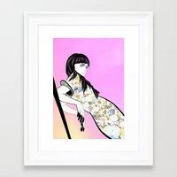 grimes Framed Art Prints featuring GRIMES by Anna Kuzmicheva
