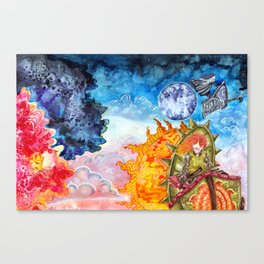 The tale of the sun and moon Canvas Print