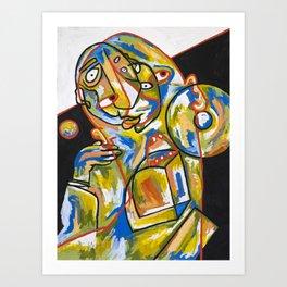Abstracción del malestar Art Print