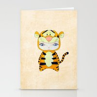 tigger Stationery Cards featuring A Boy - Tigger by Christophe Chiozzi